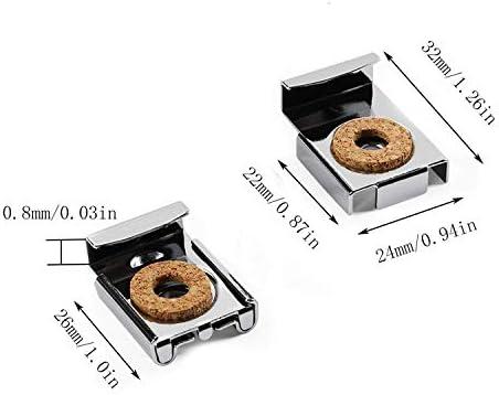 CHENBIN-BB 2セットロウルプラグとネジ(8個)スプリングロードミラーハンガークリップセット32x24mmスクエア浴室耐久性のあるアンフレームミラーマウントクリップを
