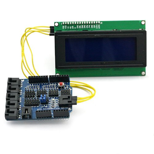 SainSmart C35 Kit with Sensor Shield V4 Module + LCD2004 for Arduino UNO R3 MEGA Mega2560 Nano DUE Duemilanove AVR ATMEL Robot XBee ZigBee