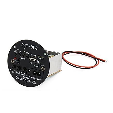 Junta módulo amplificador Digital eDealMax DC 12V de Audio estéreo de alimentación Para el vehículo auto