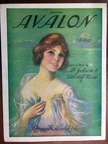 AVALON (1920 Al Jolson and Vincent Rose) original sheet music for classic song EXCELLENT condition