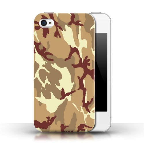 iCHOOSE Print Motif Coque de protection Case / Plastique manchon de telephone Coque pour Apple iPhone 4/4S / Collection Armée/Marine militaire/Camouflage / Marron 4