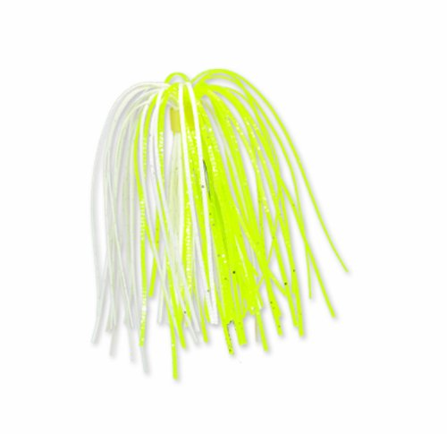 Strike King Diamond Dust and Hot Solid Replacement Skirts (Chartreuse/White, 4.5-Inch)
