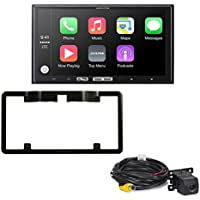 Alpine iLX-107 7 Inch Mech-less Receiver with Wireless Apple CarPlay & Backup Camera with license plate mounting kit