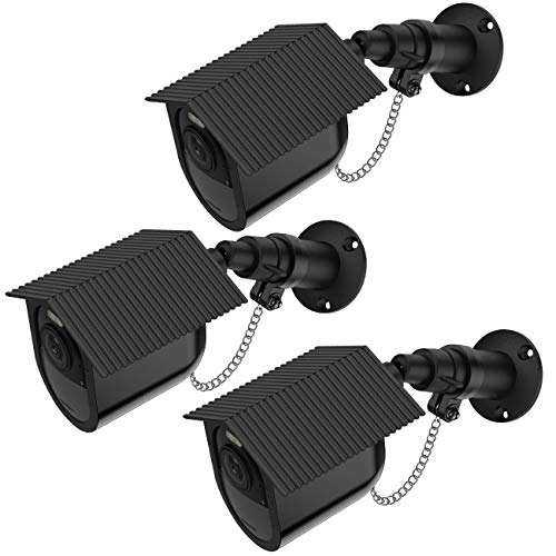 Weatherproof Housing - Koroao Security Outdoor Mount for Arlo Ultra with Anti-Theft Chain + Weatherproof Housing - Extra Protection for Your Arlo Camera (3-Pack, Black)