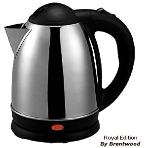 TEA KETTLE - 1.2 Liter Stainless Steel Electric - Smart Cordless Hot Water by Brentwood