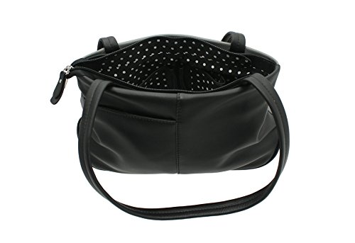 Leather Strap Black TEDDY Twin Leather Mala 82 Bag Shoulder Soft 800 Black Collection dxZqYTfw