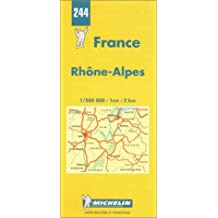 Michelin Rhone-Alpes, France Map No. 244