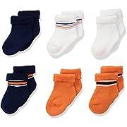 Gerber Baby Boys 6 Pair Socks, Lil Athlete, 0-3 Months