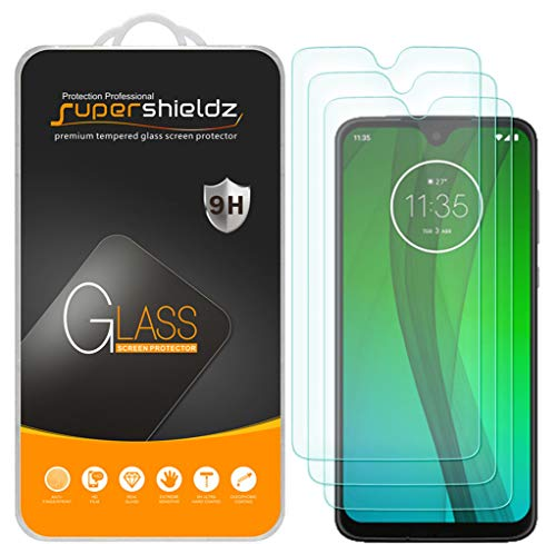 (3 Pack) Supershieldz for Motorola Moto G7 Tempered Glass Screen Protector, Anti Scratch, Bubble Free (Screen For Motorola Phone)