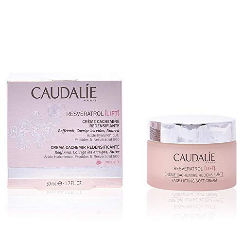 Caudalie Resveratrol Face Lifting Soft Cream. Lightweight Anti-Wrinkle Face and Neck Cream with Hyaluronic Acid. Firms and Lifts Skin with a Matte Finish 1.3 Ounce