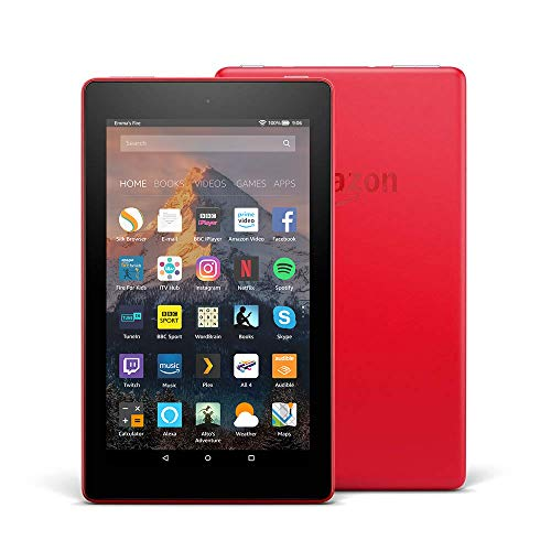 Fire 7 Tablet with Alexa, 7' Display, 8 GB, Punch Red — with Special...