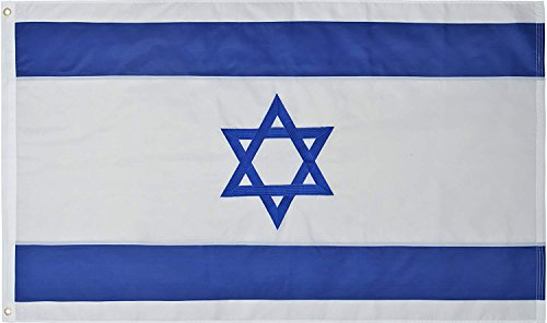 - Green Grove Products Israel Flag 3' x 5' Ft 210D Nylon Premium Outdoor Embroidered Israeli Flag
