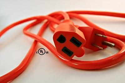 Coleman Cable 16/3 Vinyl Outdoor Extension Cord, Orange