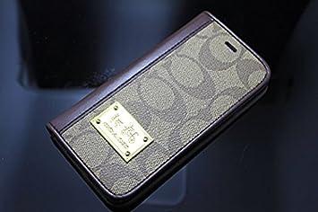 730d9ec29f COACH コーチ iphone7と iphone7plus専用ケース レザー仕上げ 手帳型 726431ca d 25 (5.4