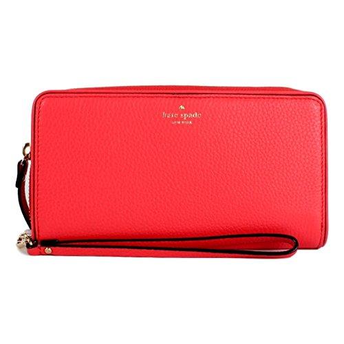Kate Spade New York Mulberry Street Brigitta Wristlet Wallet (Crab Red)