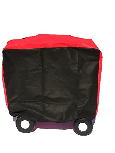 (MOTHER MADE Winter Special! Kiddie Care Waterproof Cozy Coupe Style Ride-ON Toy & Wheelchair Covers (RED/Black) MD)