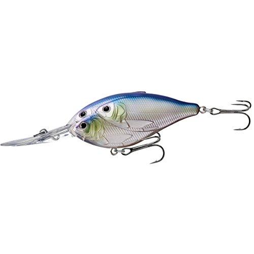 - LiveTarget Threadfin Shad Crankbait with 20' Depth & #1 Hook, Metallic Pearl/Lavender, 3 1/2