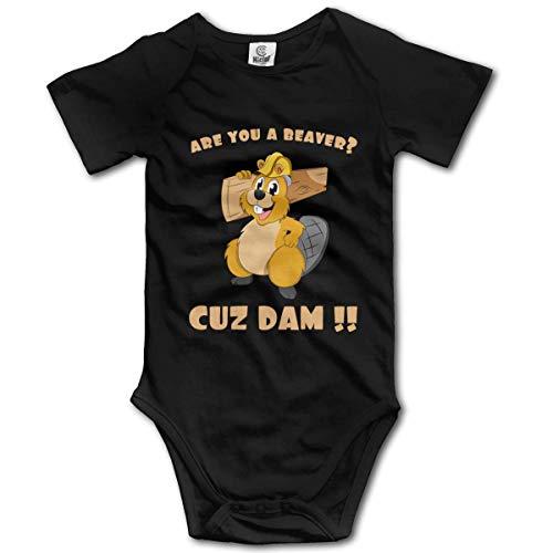 are You A Beaver Cuz Dam Baby Short-Sleeve Onesies Baby Boys Girls -