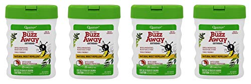 Buzz Away Insect Repellant - Quantum Buzz Away Extreme Natural Insect Repellent Towelettes 25 ea (Pack of 4)