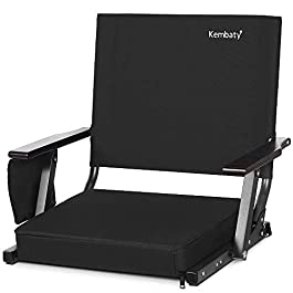 Kembaty Stadium Seats for Bleachers, Bleacher Seats with Backs and Cushion, Extra Wide Portable Stadium Chairs with Back…