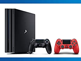 Playstation 4 Pro 1TB Console + DualShock 4 Magma Red Wireless Controller + NBA 2k17 Bundle ( 3 - Items )