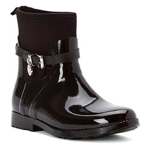 Botas de lluvia Michael Kors Michael encanto estiramiento Rain Bootie Black
