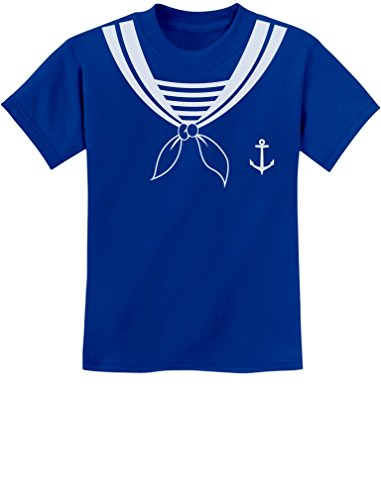 TeeStars - Halloween Sailor Costume Youth Kids T-Shirt X-Small Blue -