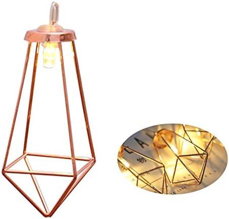 Aolvo 40 luces LED de hada geométricas de oro rosa, luces de ...