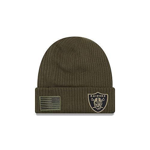 - New Era 2018 Mens Salute to Service Knit Hat (Oakland Raiders)