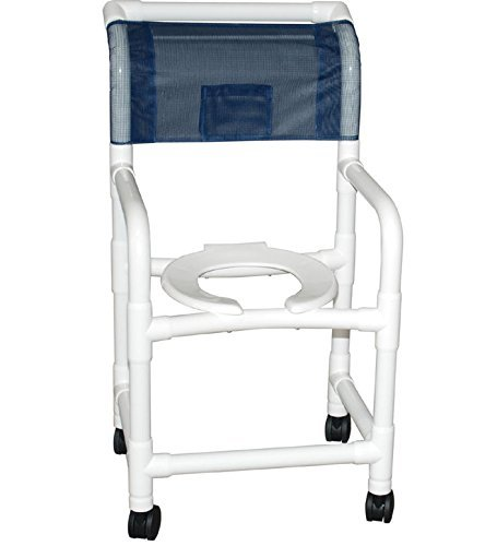 B00RBHGCPC MJM International 118-3TW-B Standard Shower Chair, All Brake Casters, Royal Blue/Forest Green/Mauve 411Patt8SqL