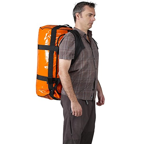 Orange Caribee Kokoda Camp Travel Base 90 Liters Duffle 40 cm Weatherproof Bag fPxUwf