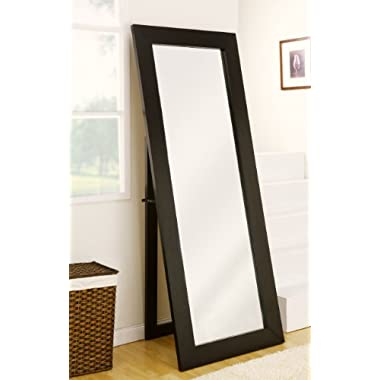 ioHOMES Cosmo Beveled Floor Standing Mirror, Black