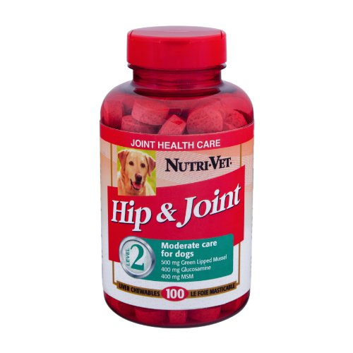 Nutri-Vet Hip and Joint Level 2 Chewable Tablet for Dogs, 100-Count