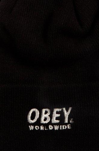Black Pom negro Gorros Worldwide Pom Nieve 100030036 Obey YUnwq7P