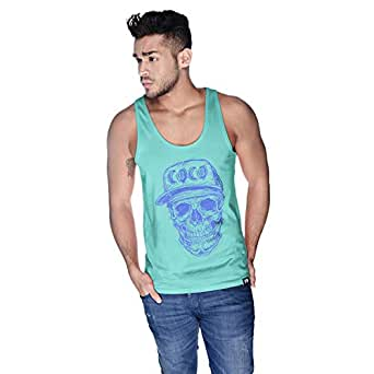 Creo Violet Coco Skull Tank Top For Men - L, Green