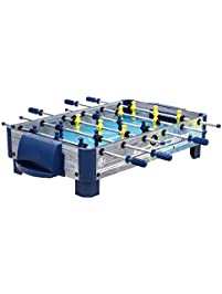 Harvil 38 Inch Tabletop Foosball Table With Silver Rods And Non Slip  Handles,
