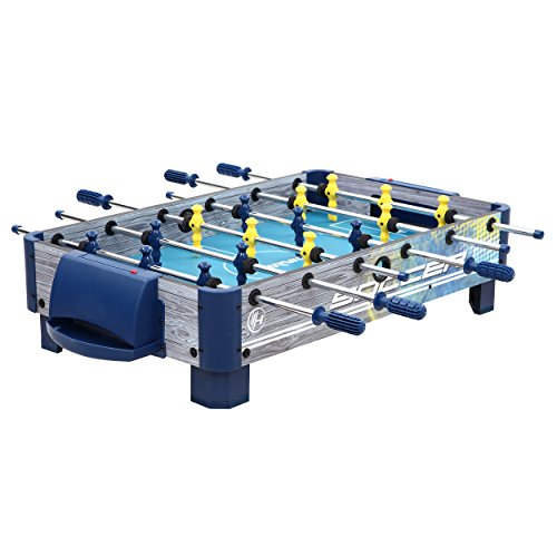 Harvil 38-Inch Tabletop Foosball Table with Silver Rods and Non-Slip Handles, 2 Manual Slide Scoring Units and 2 Foosballs.