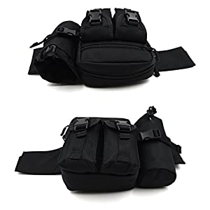 Huntvp Tactical Waist Pack Pouch With Water Bottle Pocket Holder Waterproof Molle Fanny Hip Belt Bag