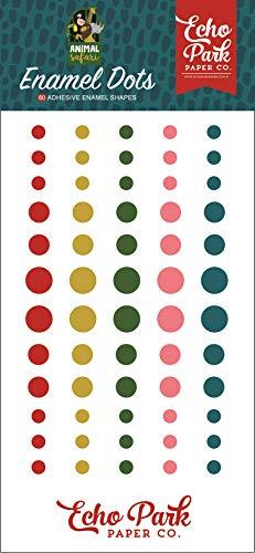 Echo Park Paper Company ZOO167028 Animal Safari Enamel dots, Green, Navy, Blue, Yellow, red, Pink - $4.99