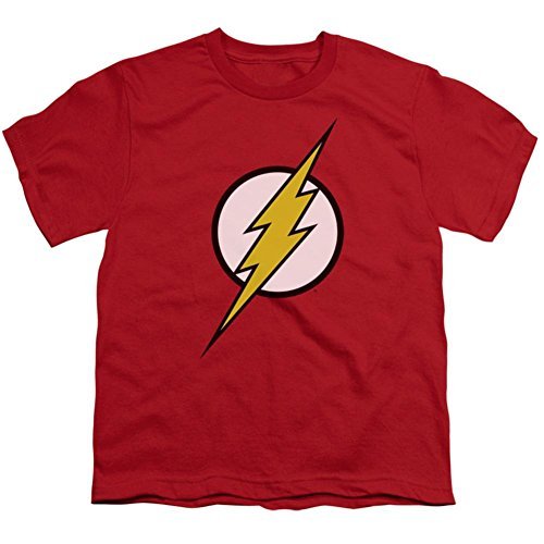 Youth: Justice League America - Flash Logo Kids T-Shirt Size YXL