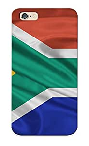 Anettewixom High Grade Flexible Tpu Case For Iphone 6 - South Africa Flag ( Best Gift Choice For Thanksgiving Day)