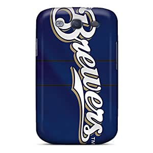 Galaxy S3 Case Cover - Slim Fit Tpu Protector Shock Absorbent Case (milwaukee Brewers)