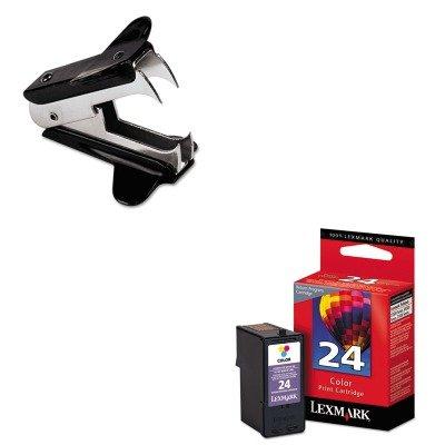KITLEX18C1624UNV00700 - Value Kit - Lexmark 18C1624 Ink (LEX18C1624) and Universal Jaw Style Staple Remover (UNV00700)