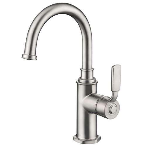 Bar/Prep Kitchen or Bathroom Faucet (Applicable for Multiple Locations), Kids-friendly Size Design, High-arc Spout for Easy Hair Wash or Clean Pets, Stainless Steel