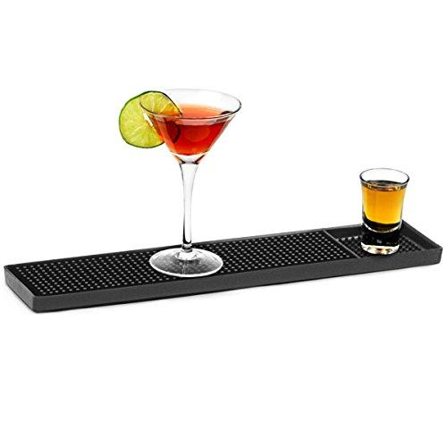 Rubber Bar Mat 15inch   bar@drinkstuff Bar Rail Runners, Fingertip Bar Mat, Rubber Bar Rail For Glassware