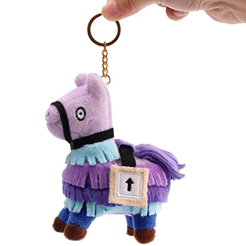 Xindda 10CM Loot Llama Keychain Fortnite Plush Figures Stuffed Toys Key Ring, Fortnite-Troll Game
