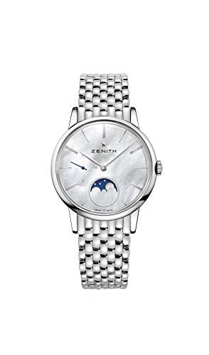 Zenith Elite Lady Moonphase Automatic White Mother of Pearl Dial Ladies Watch 03.2320.692/80.M2320