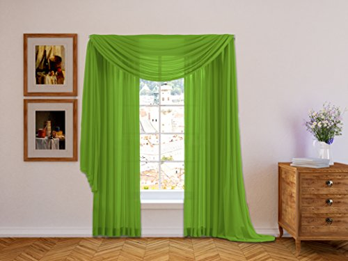 Green Window Curtain (HLC.ME Lime Green 2-Pack 108