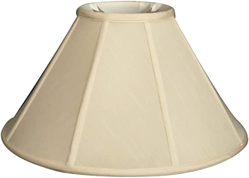 Upgradelights Silk Type Eggshell Empire 20 Inch Replacement Lamp Shade