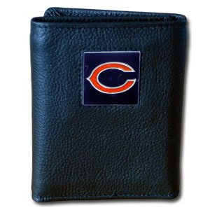 NFL Chicago Bears Leather Tri-Fold - Leather Chicago Fold Wallet Bears Tri